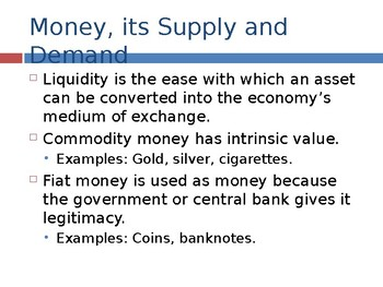 Fiscal and Monetary Policy PPTs 65 slides - Quantitative Easing, Fisher Equation