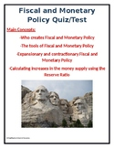 Fiscal and Monetary Policy Quiz/Test