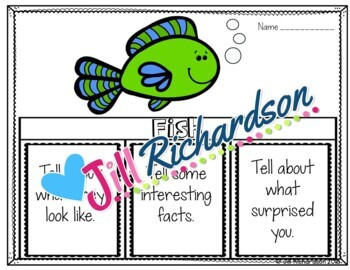 Ocean Animals - Fish Writing Flap Books