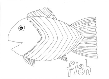 Fish (2): Animals and Pets: Colouring Page