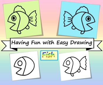 Fish Easy Drawing Fun Facts By Teo Teachers Pay Teachers