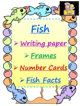 Fish Themed - Frames - Writing paper - Number Cards - Facts