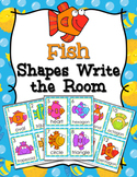 Fish 2D Shapes Write the Room