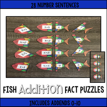 Fish Addition Fact Puzzle