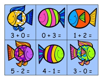 Fish Addition and Subtraction Sort