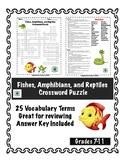 Fish, Amphibians, and Reptiles Crossword Puzzle