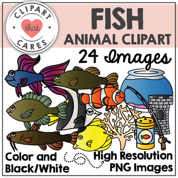 Fish Animal Clipart by Clipart That Cares