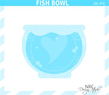 Fish Bowl Clip Art - Commercial Use Clipart