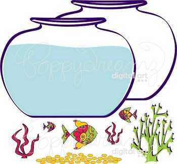Fish Bowl Clipart by Poppydreamz