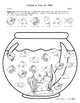 Fish Bowl: Free Color and Count No Prep Worksheet