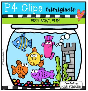 Fish Bowl Fun (P4 Clips Trioriginals Clip Art)