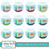Fish Bowl-Goldfish-Clip Art Pack