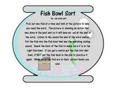 Fish Bowl Inflected -ed Ending Sort