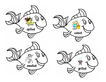 Fish Bowl Inflected -ed Ending Sort