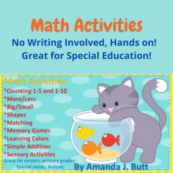 Fish Bowl Math Activities - Preschool; Kindergarten; Autis