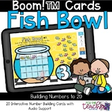 Fish Bowl Number Building within 20 {Boom Cards™}