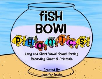 Fish Bowl Phonics!  Fish Phonics Center for Short & Long Vowel Sounds!