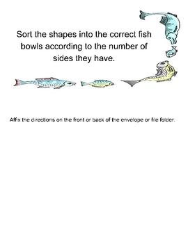 Fish Bowl Shape Sort Math Game