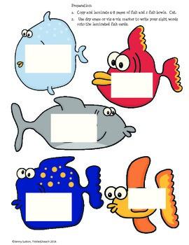 Fish Bowl Sight Word Game