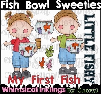 Fish Bowl Sweeties Clipart Collection