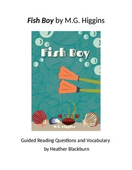 Fish Boy Chapter Questions, Vocabulary, and Activity Sheets