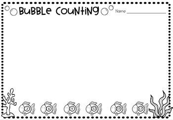 Fish Bubble Counting Number Activity to 10 and 20