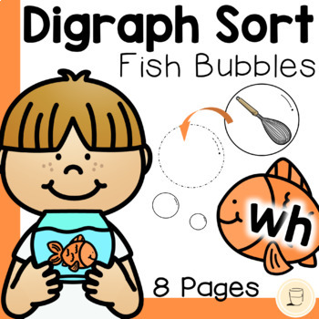 Fish Bubble Digraph Sorting Activity - Free