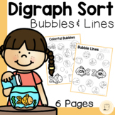 Fish Bubble Digraph Sorting Worksheet - Free