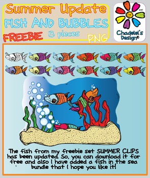 Fish & Bubbles FREEBIE Clips [Happy Summer Clips Updated]