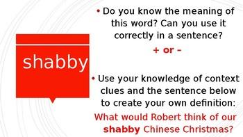 Fish Cheeks Vocabulary Power Point