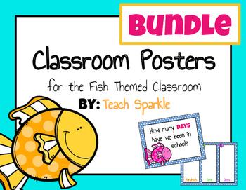 Fish Classroom Posters Bundle