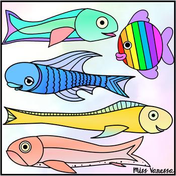 Rainbow Fish Clip Art