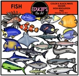 Fish Clip Art Bundle {Educlips Clipart}