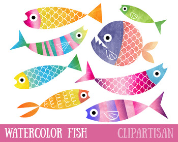 Fish Clip Art | Colorful Fish
