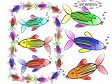 Fish - Frames - Clipart - Classroom Decor