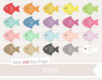Fish Clipart; Animal, Ocean, Beach, Sea