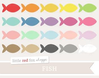 Fish Clipart; Ocean, Sea, Animal