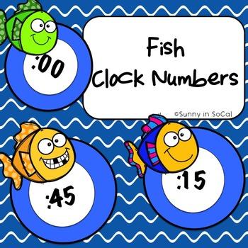 Fish Clock Number Labels
