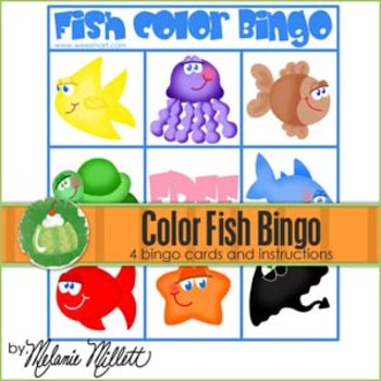 Fish Color Bingo Game
