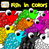 Fish Color Clip Art {Mrs. Johnson's Alphabet Soup}