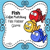 Fish Color Matching File Folder Game