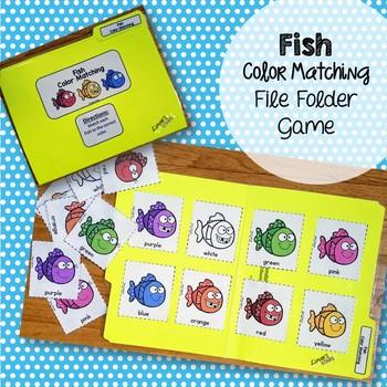 Fish Color Matching File Folder Game