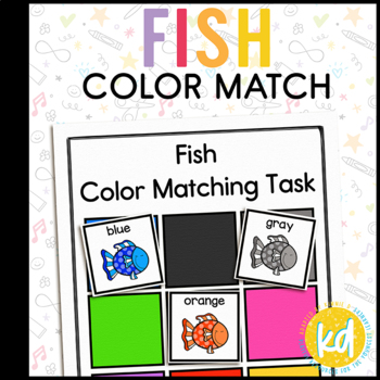 Fish Color Matching Folder Game for Early Childhood Special Education
