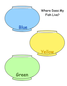 Fish Color Sorting Worksheet
