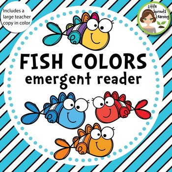 fish colors emergent reader includes large teacher copy