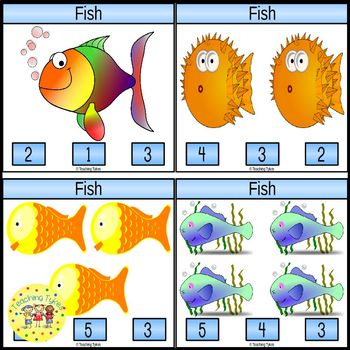 Fish Clip Task Cards