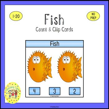 Fish Count and Clip Task Cards