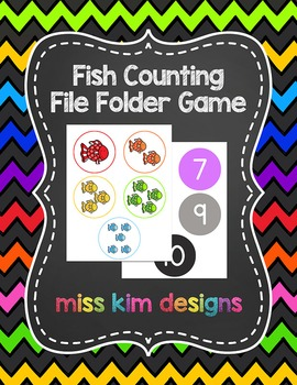 Fish Counting File Folder Game for Early Childhood Special
