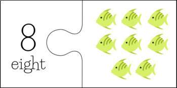 Fish Counting/Number Puzzles (Numbers 1 - 10)
