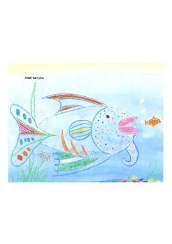 Elementary Visual Art Project - Crayon Resist Fish